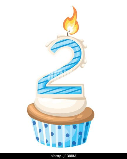 Number 1 Birthday Candle Stock Vector Images