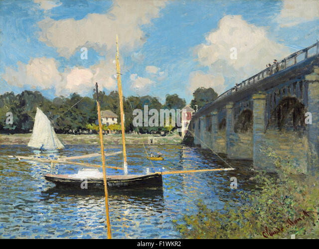 The bridge at argenteuil stock photos the bridge at for Imag fer forget argenteuil