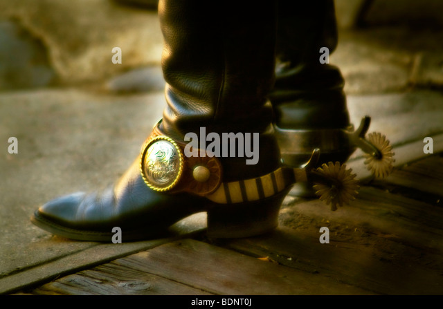 Cowboy Boots With Spurs Stock Photos & Cowboy Boots With Spurs ...