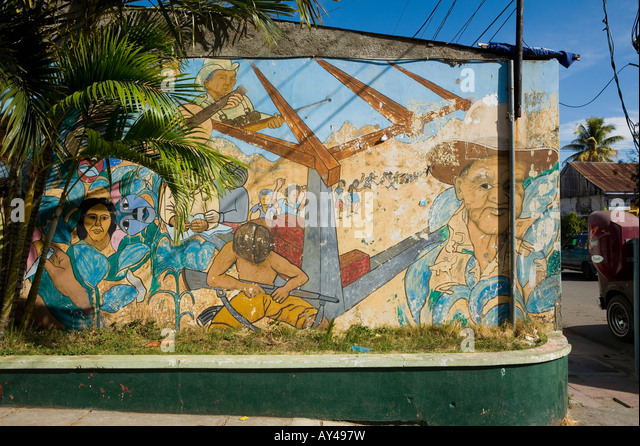 Fsln stock photos fsln stock images alamy for Mural nicaraguense
