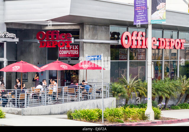 A Combination Coffee Shop Office Depot On Pico Boulevard In Los Angeles  California   Stock Image