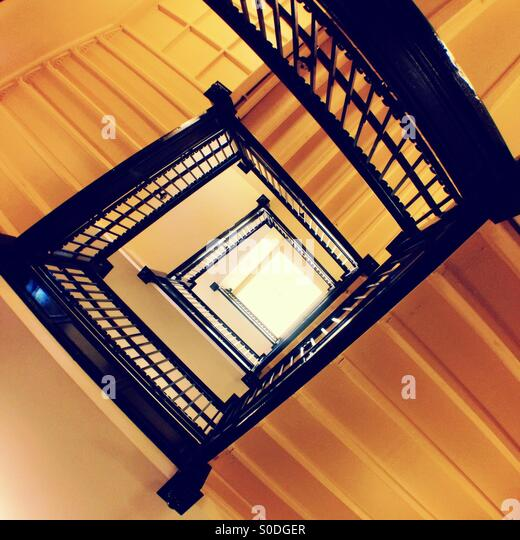 Spiral Staircase Looking Up Stock Photos Spiral