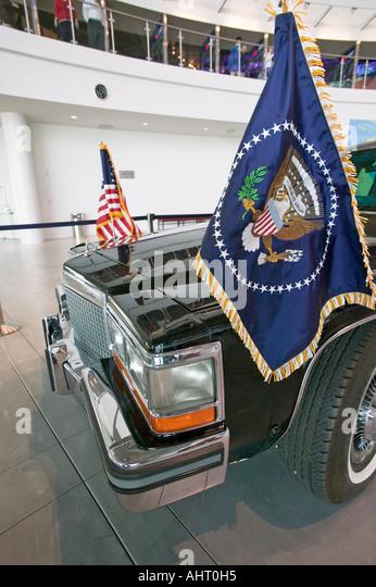 Presidential Motorcade On Display At The Ronald Reagan Secret Palm Springs Car Museum