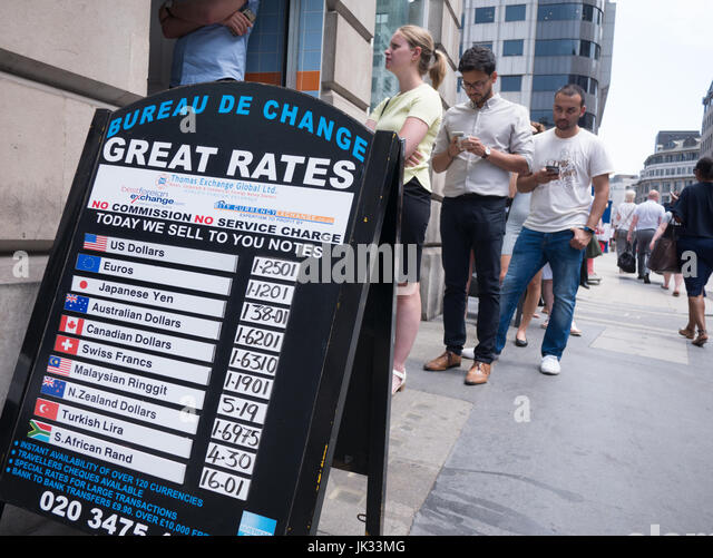 Exchange rate board stock photos exchange rate board stock