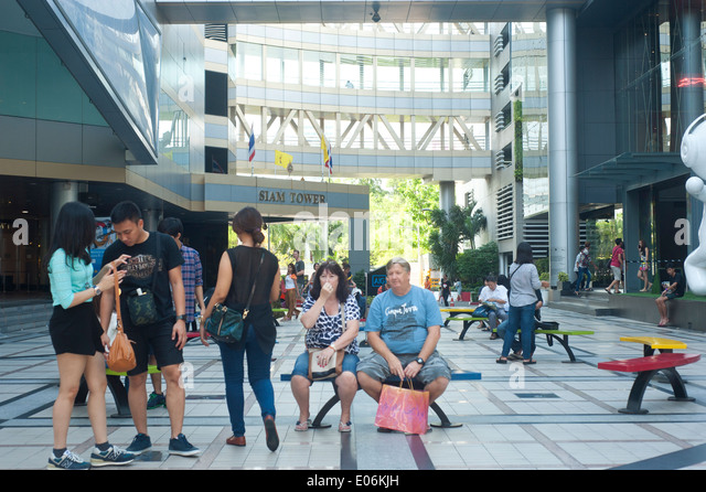 Siam center shopping center stock photos siam center for Spa uniform bangkok