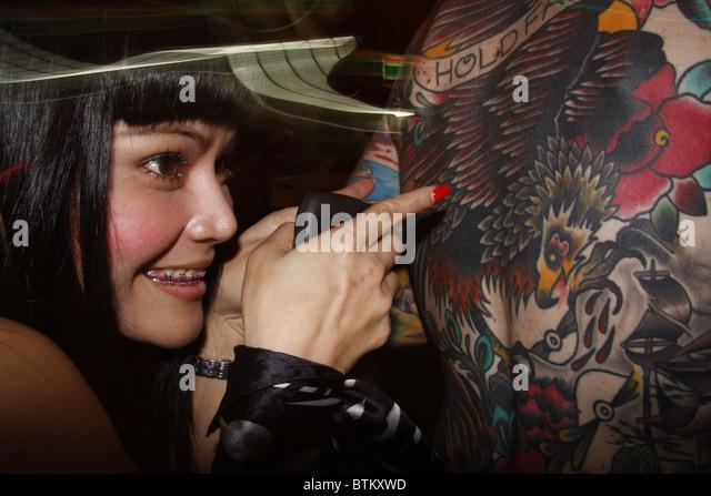 Western Punk And Thai Girl In Bangkok Thailand Stock Image