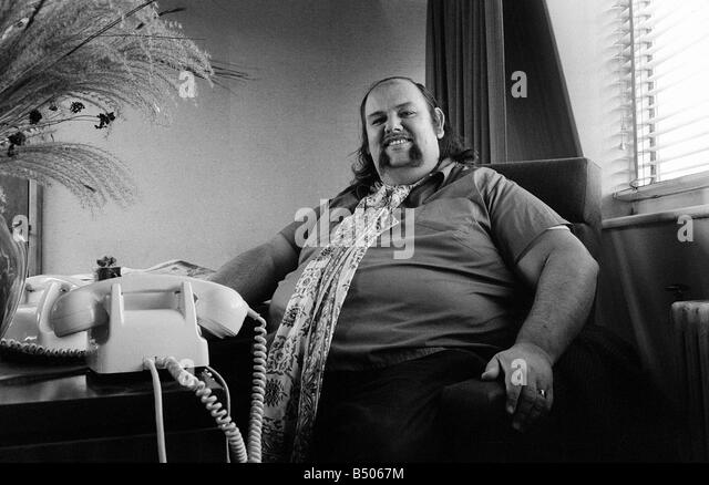 Peter Grant October 1970 Manager Of Led Zeppelin In His London Office    Stock Image