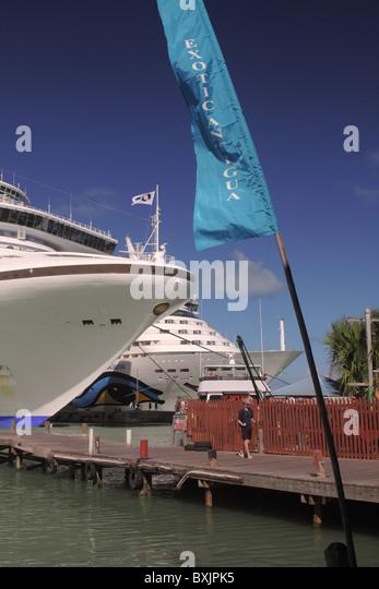 Sky Walk Boards : Antigua cruise port stock photos
