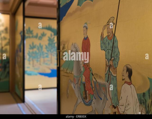 Sliding door paintings in palace at Kumamoto Castle Kyushu Japan - Stock Image & Door Paintings Stock Photos u0026 Door Paintings Stock Images - Alamy pezcame.com
