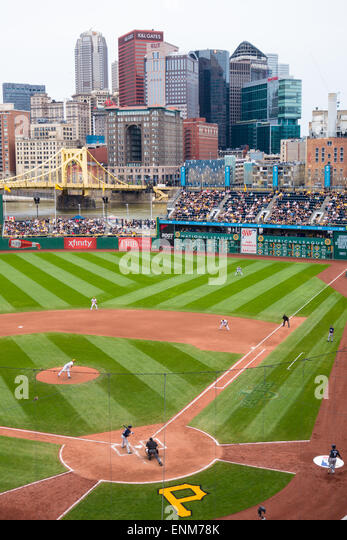 PNC Park Baseball Stadium In Pittsburgh PA Home Of The Pirates Overlooks