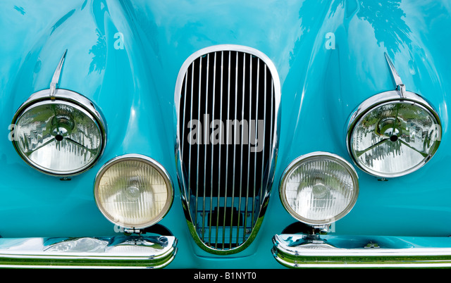 Vintage Automobile Front Center With One Headlight : Hotrods stock photos images alamy