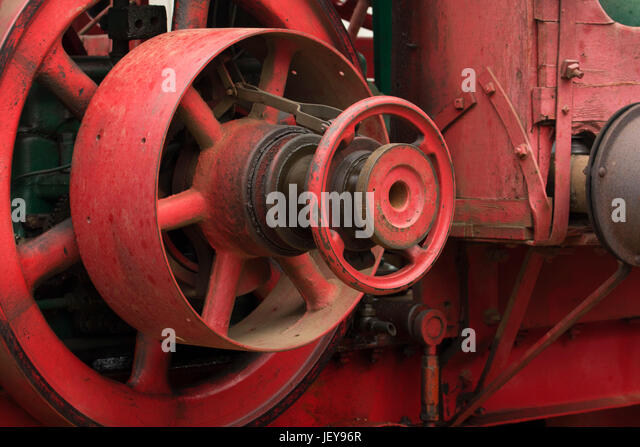 Old Tractor Transmission Gears : Museum steam tractor stock photos