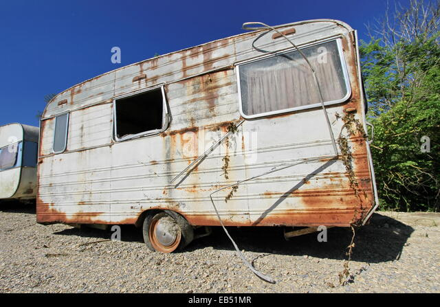 broken down caravan stock photos broken down caravan. Black Bedroom Furniture Sets. Home Design Ideas