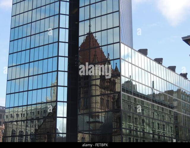 Reflection On Glass Building Stock Photos & Reflection On ...