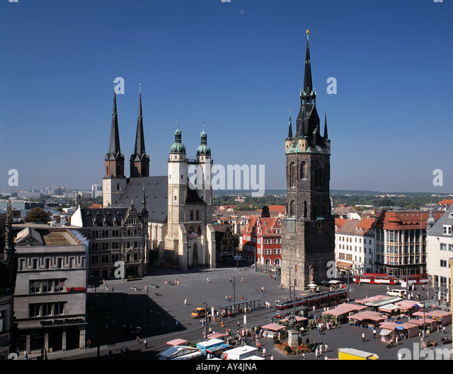 marktkirche aerial stock photos marktkirche aerial stock images alamy. Black Bedroom Furniture Sets. Home Design Ideas