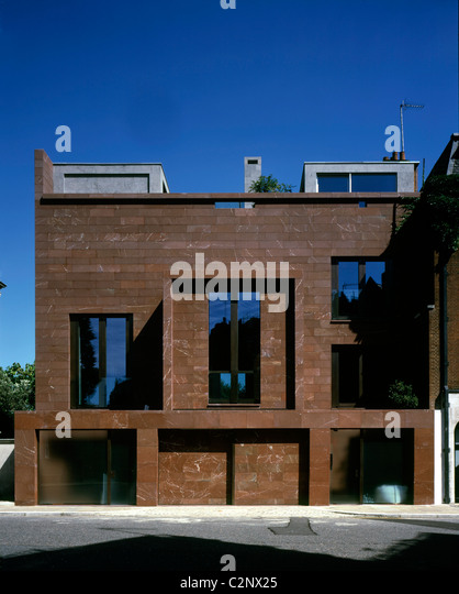 Front Elevation Of Houses In London : Clad window stock photos images alamy