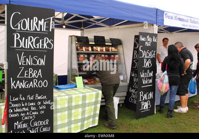 Trade Stands Chatsworth Country Fair : Burger stand stock photos images alamy