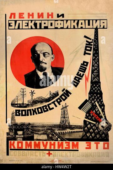Vladimir lenin propaganda posters