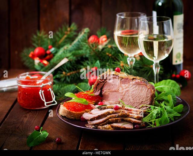 christmas ham dinner table - photo #12