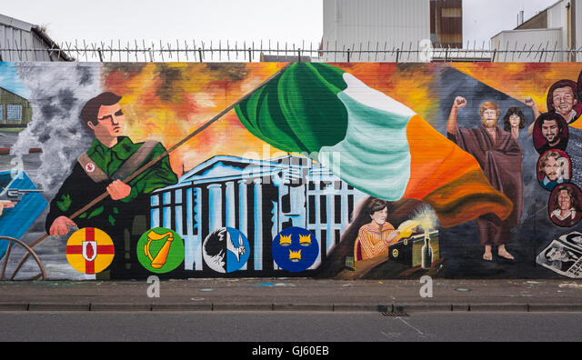 Easter rising gpo stock photos easter rising gpo stock for Easter rising mural