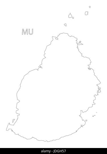 Map Mauritius Black and White Stock Photos & Images - Alamy