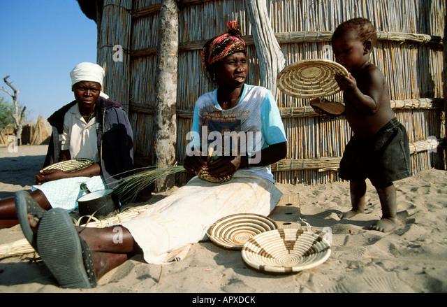 Basket Weaving Botswana : Botswana baskets stock photos