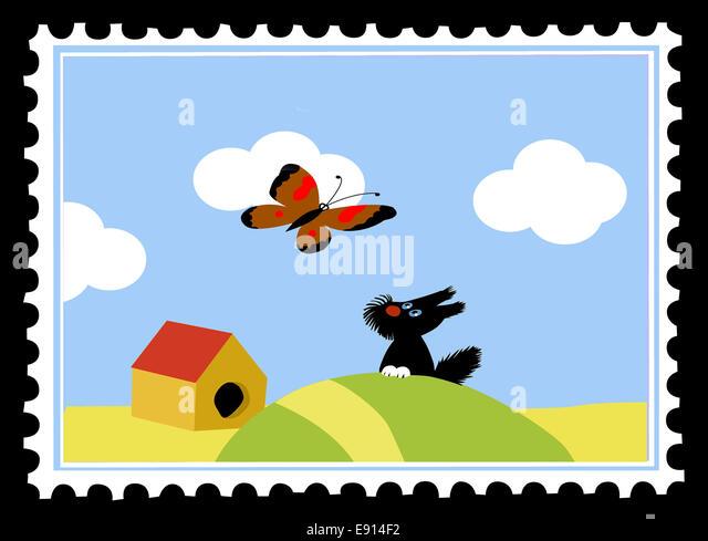 Postage Postal Stamps Stock Photos Postage Postal Stamps