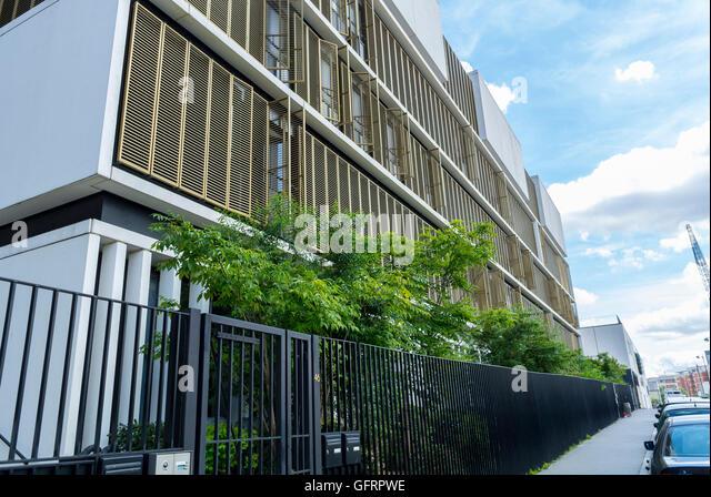 Modern Architecture France paris france suburbs architecture eco stock photos & paris france
