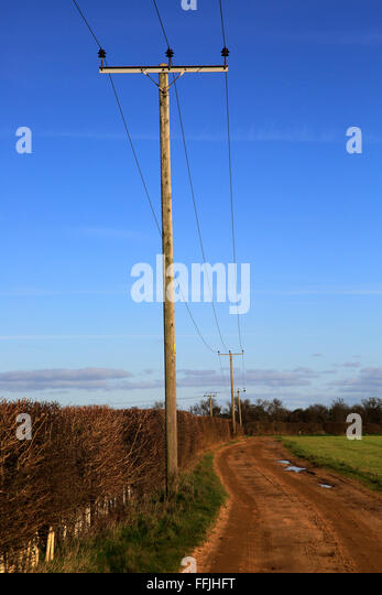 Telegraph Poles Countryside Uk Stock Photos Amp Telegraph
