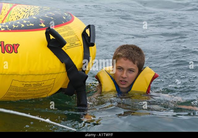 Wearing Inflatable Life Jacket Stock Photos Amp Wearing