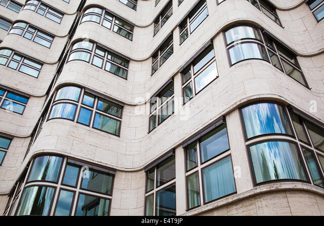 The shell haus shell house berlin germany stock image