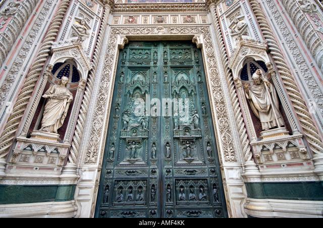 Iron doors of the Basilica di Santa Maria del Fiore Duomo Florence - Stock Image & Duomo Cathedral Detail Doors Florence Stock Photos \u0026 Duomo ... Pezcame.Com