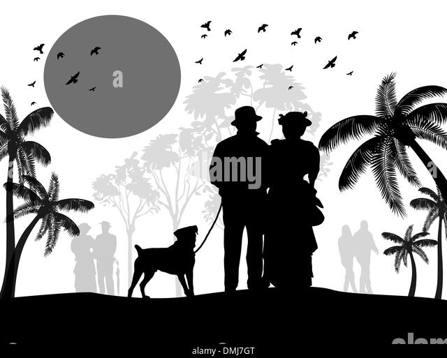 silhouette woman dog walking stock photos amp silhouette