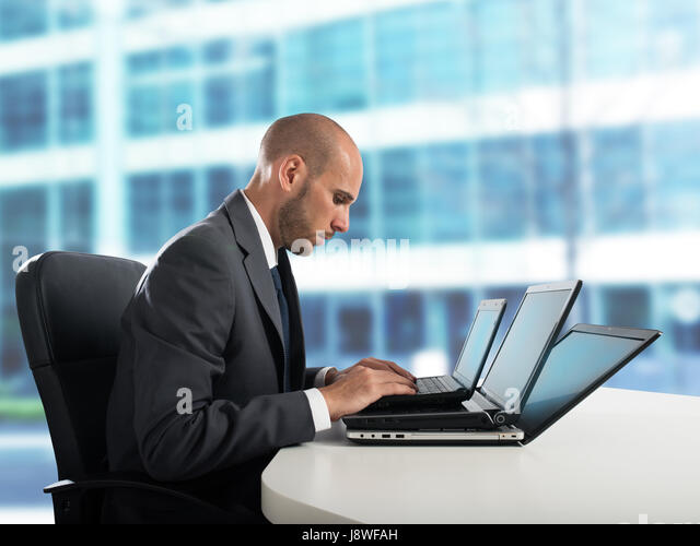 Fatigue and stress in the office - Stock Image