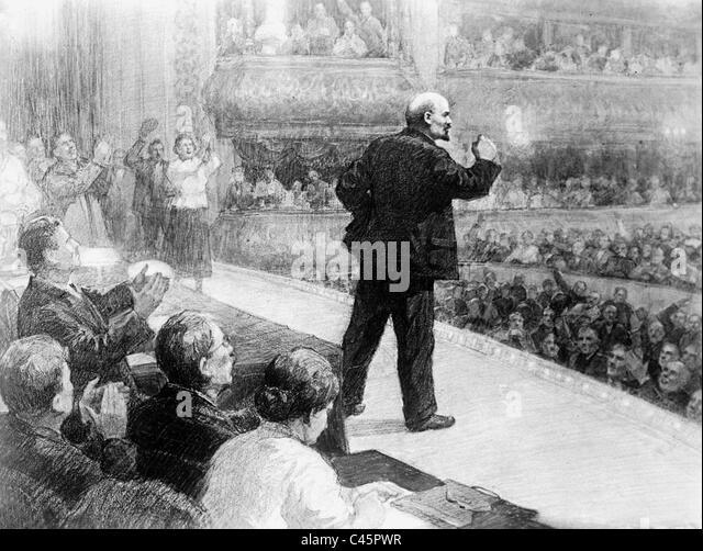 Vladimir Ilyich Lenin Delivers Speech Stock Photos Images Alamy