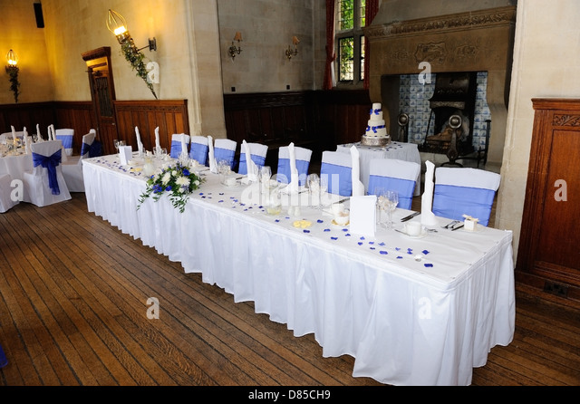 Head Table At A Wedding Reception In Hotel