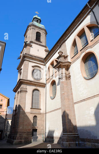 Innsbruck cathedral stock photos innsbruck cathedral for Interior design innsbruck