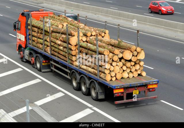 Lumber truck stock photos images alamy