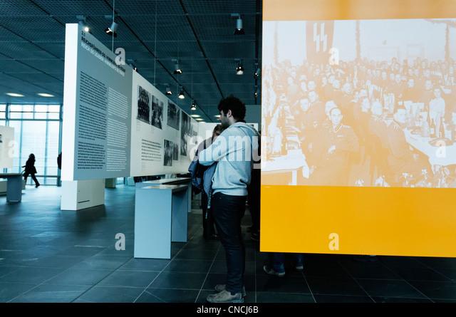 Inside the topography of terror museum in berlin stock image
