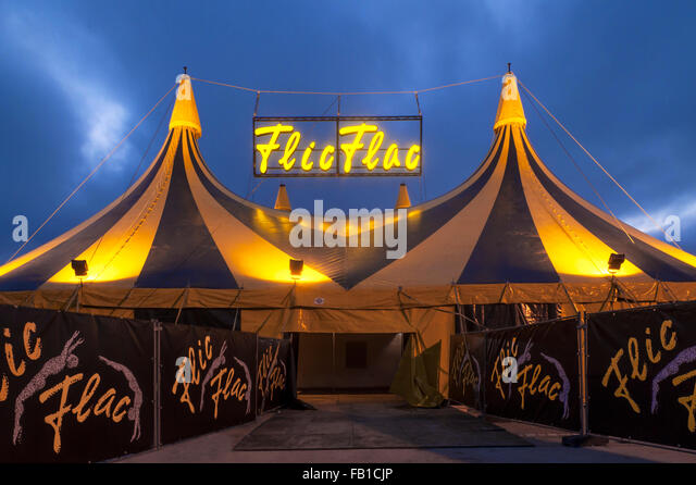 Entrance circus tent Flic Flac artistsu0027 show in the evening Nuremberg Middle & Circus Tent Entrance Stock Photos u0026 Circus Tent Entrance Stock ...