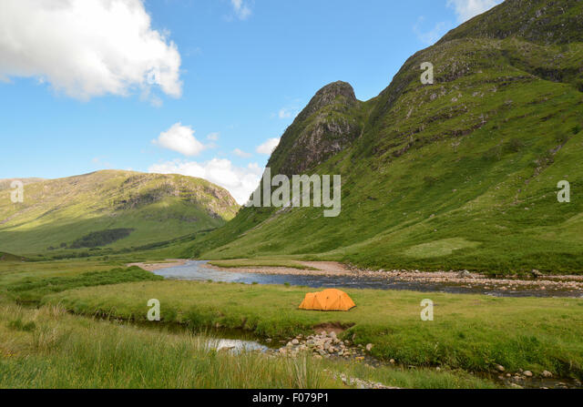 Wild c&ing in Glen Etive near Glencoe Scottish Highlands UK - Stock Image & Camping Scotland Stock Photos u0026 Camping Scotland Stock Images - Alamy