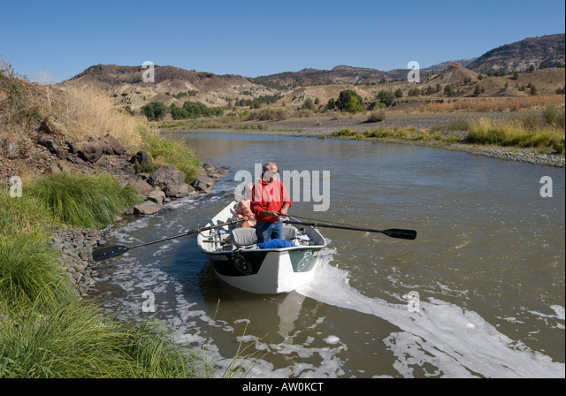 Fishing for smallmouth stock photos fishing for for John day river fishing