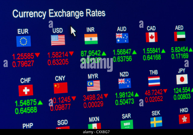 Foreign Exchange Rates Stock Photos Amp Foreign Exchange