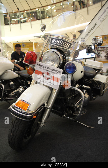 Harley Davidson Road King Stock Photos 1997 Police Bike Image
