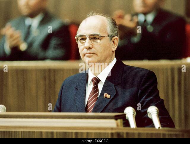 mikhail gorbachev russian communist leader 1986 stock image