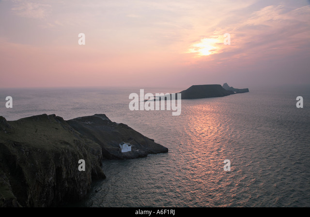 Kitchen Corner looking toward Worms Head Gower South Wales   Stock Image. Kitchen Rhossili Gower Wales Stock Photos   Kitchen Rhossili Gower