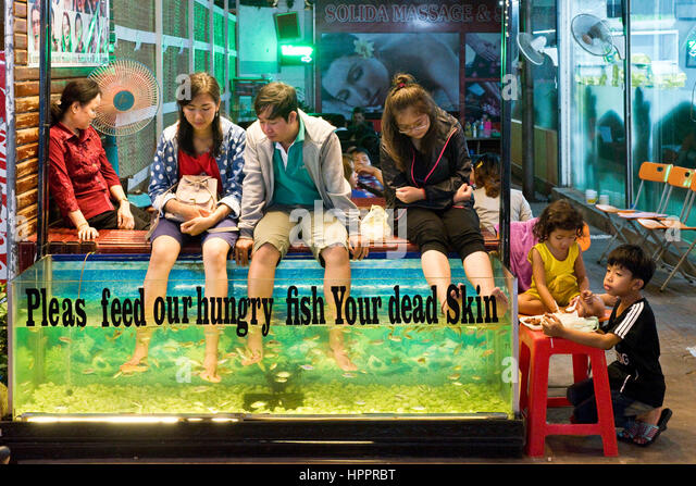 Fish massage stock photos fish massage stock images alamy for Fish spa near me