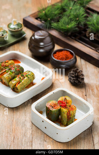 korean food plating stock photos korean food plating stock images alamy. Black Bedroom Furniture Sets. Home Design Ideas