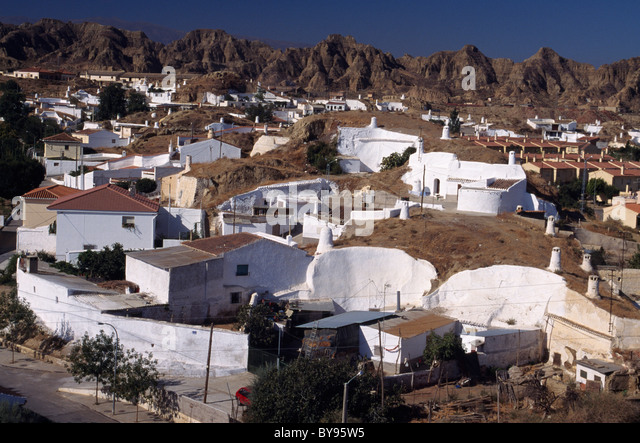 Cave Houses Guadix Spain Stock Photos Cave Houses Guadix