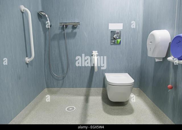hospital bathroom. Disabled bathroom in a hospital  Stock Image Shower Seat Bathroom Photos